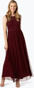 Czerwona sukienka Vila maxi bez rękawów z tiulu