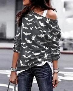 Bluzka Kendallme z bawełny z długim rękawem w stylu casual