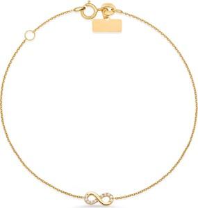 90d3e309ab46ac producent niezdefiniowany Złota bransoletka 585 celebrytka nieskończoność