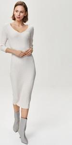 Sukienka FEMESTAGE Eva Minge z dekoltem w kształcie litery v midi z długim rękawem