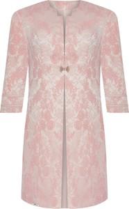 Różowy płaszcz POLSKA z tkaniny