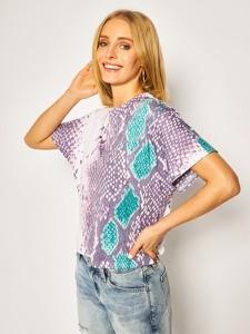 T-shirt Guess z okrągłym dekoltem w stylu casual