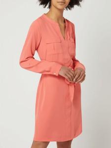 Różowa sukienka comma, mini z długim rękawem w stylu casual