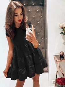 Sukienka magmac.pl z tkaniny z krótkim rękawem