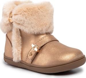 Złote buty dziecięce zimowe Mayoral