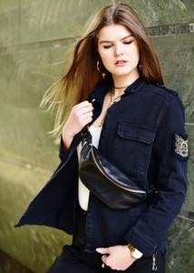 Czarna kurtka Fason z bawełny krótka