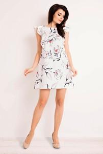 558f806a1d sukienka w kolorze ecru - stylowo i modnie z Allani