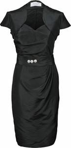 Sukienka Fokus z krótkim rękawem midi z dekoltem w kształcie litery v