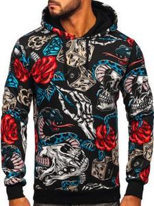 Bluza Denley z nadrukiem w młodzieżowym stylu z dresówki