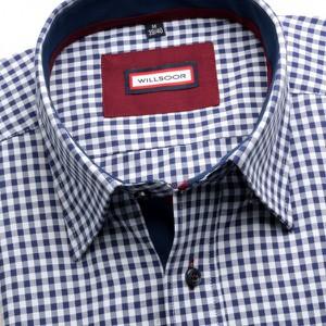 Granatowa koszula Willsoor z klasycznym kołnierzykiem w stylu casual z długim rękawem