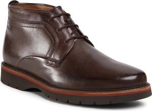Brązowe buty zimowe Clarks sznurowane