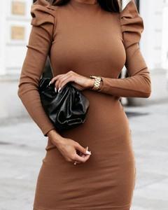 Brązowa sukienka Kendallme dopasowana mini