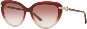 Czerwone okulary damskie Bvlgari