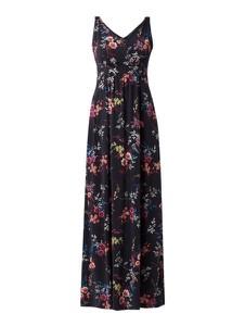 Granatowa sukienka Montego z dekoltem w kształcie litery v maxi