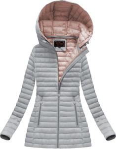 Libland pikowana kurtka z kapturem szara (7218big)