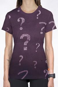 Fioletowa bluzka Power Canvas z nadrukiem z okrągłym dekoltem