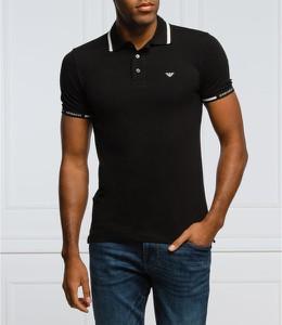 Czarna koszulka polo Emporio Armani z bawełny