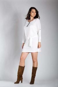 Sukienka Nommo z długim rękawem dla puszystych w stylu casual