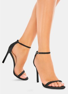 Czarne sandały DeeZee na szpilce