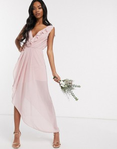 Różowa sukienka Tfnc maxi