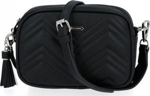 Czarna torebka David Jones w stylu glamour mała