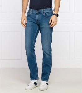 Niebieskie jeansy Tommy Hilfiger z jeansu w street stylu
