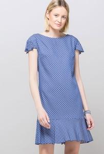 add5316c3c Niebieska sukienka Monnari z okrągłym dekoltem w stylu casual mini