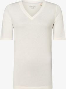 T-shirt Esprit z dekoltem w kształcie litery v