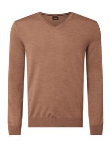 Brązowy sweter Joop! z wełny w stylu casual