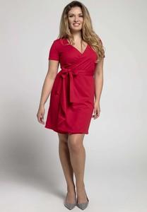 Sukienka Nommo dla puszystych mini z krótkim rękawem