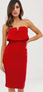 Sukienka Ax Paris midi bez rękawów