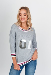 Bluzka ZOiO.pl w stylu casual z okrągłym dekoltem