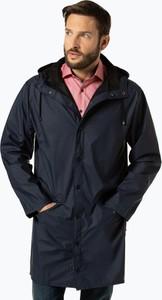 Granatowy płaszcz męski Rains