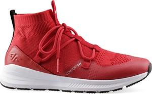 Czerwone buty sportowe 4fsklep.pl sznurowane w sportowym stylu