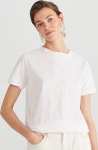T-shirt Reserved z bawełny w stylu casual z krótkim rękawem
