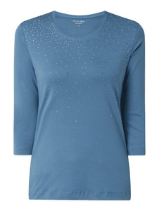 Niebieska bluzka Christian Berg Women w stylu casual z bawełny