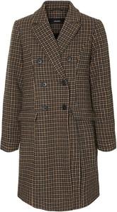 Brązowy płaszcz Vero Moda z wełny w stylu casual