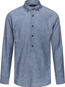Niebieska koszula Joop! w młodzieżowym stylu