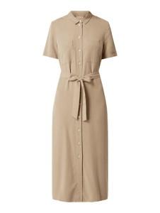 Sukienka Part Two midi z krótkim rękawem koszulowa
