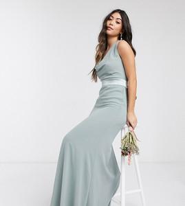 Zielona sukienka Tfnc Petite z tkaniny maxi