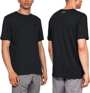 Czarny t-shirt Under Armour z krótkim rękawem w sportowym stylu