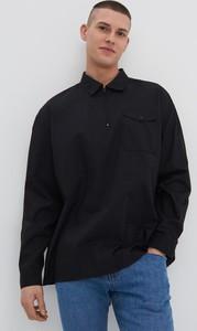 Czarna koszula House z klasycznym kołnierzykiem z długim rękawem