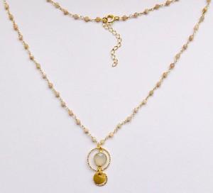 Peani Naszyjnik rosary z agatem