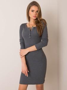 Sukienka Sheandher.pl z okrągłym dekoltem w stylu casual z bawełny