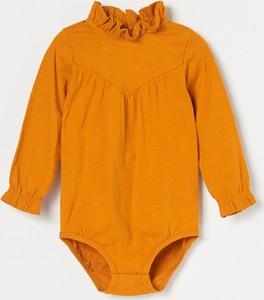 Pomarańczowe body niemowlęce Reserved dla dziewczynek