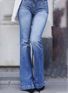 Niebieskie jeansy Sandbella w stylu casual