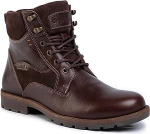 Brązowe buty zimowe Sergio Bardi sznurowane