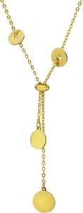 Manoki Złoty naszyjnik damski z łańcuszka, z okrągłymi ozdobami