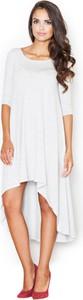 Sukienka Figl z okrągłym dekoltem mini z krótkim rękawem