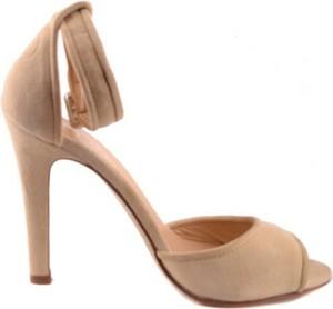 Sandały Twinset z zamszu